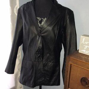 Leather blazer Chadwick brand